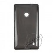 Kit Capa de TPU Premium + Película Pro Fosca para Nokia Lumia 520 - Cor Grafite
