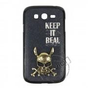 Capa Keep it Real com Caveira em 3D para Samsung Galaxy Grand Duos I9082 - Cor Preta
