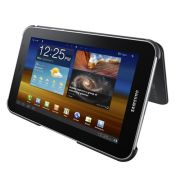 Capa em couro para Samsung Galaxy Tab 7.7 GT-P6800 - Cor Preta