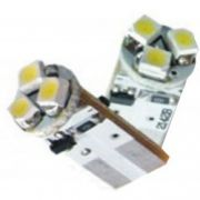 Lâmpada Led 12V T10 Importado 3 Leds (Par) Branco
