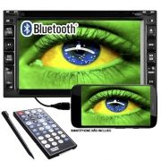 Central Multimídia Universal 2 Din 6.2 Tay Tech S95 Usb Bluetooth Tv Digital Gps