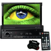 Dvd Automotivo 1 Din 7.0 Retrátil Napoli DVD-TV 7998 BT Sd Usb Bluetooth Tv Analógica