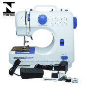 Máquina de Costura Portátil Bivolt Incasa Compact GF1000 Branco e Azul com Inmetro
