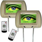Par Encosto Cabeça Tela Monitor Escravo Tech One Standard Bege