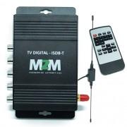 Receptor Tv Digital Automotivo M2M Car R-TV01 ISDB-T Antena 3 Saídas com Controle