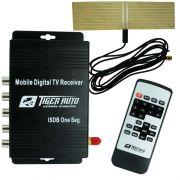 Receptor Tv Digital Automotivo para Dvd Tiger Auto 3 Saídas Antena com Controle