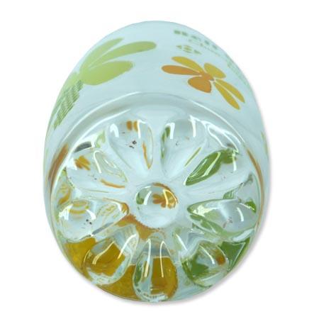 Jogo Com 6 Copos de Vidro Moriste 6901E Verde e Amarelo 250Ml  - BEST SALE SHOP