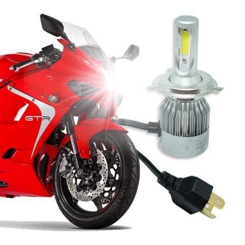 Lâmpada Super Led Moto 4500 Lumens 12V 24V H4 (Bi) 6000K  - BEST SALE SHOP