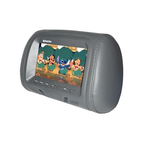 Par Encosto Cabeça Tela Monitor 1 Leitor Dvd Tech One Standard Grafite  - BEST SALE SHOP