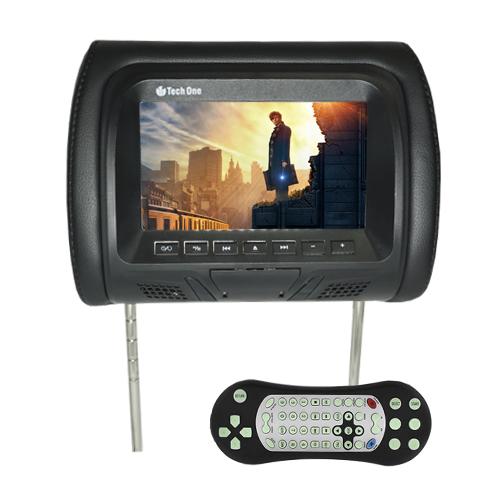 Par Encosto Cabeça Tela Monitor Leitor Dvd Tech One Standard Preto  - BEST SALE SHOP