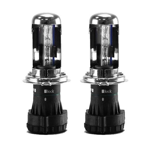 Par Lâmpada Bi Xenon Reposição 12V 35W H4-3 8000K  - BEST SALE SHOP