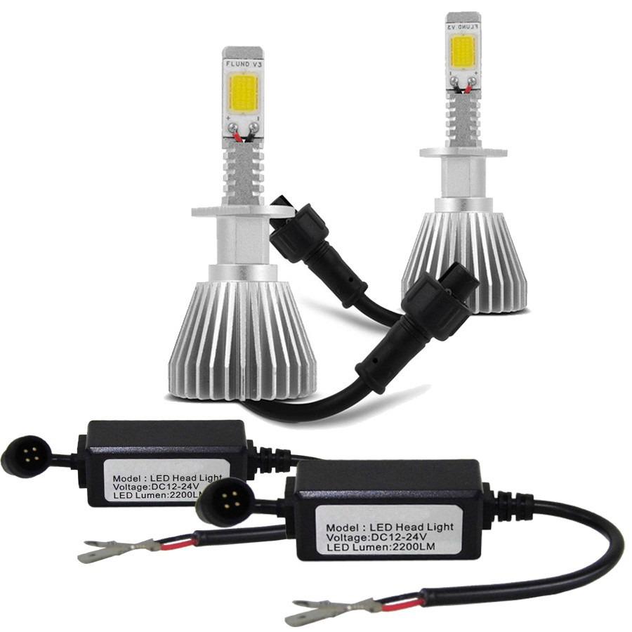 Par Lâmpada Super Led 4400 Lumens 12V 24V H8 6000K  - BEST SALE SHOP