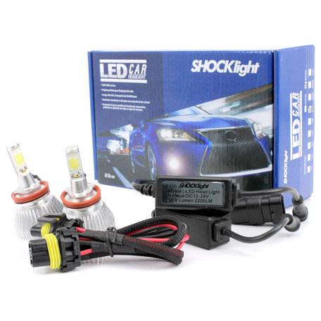 Par Lâmpada Super Led 4400 Lumens 12V 24V 32W Shocklight H11 6000K  - BEST SALE SHOP