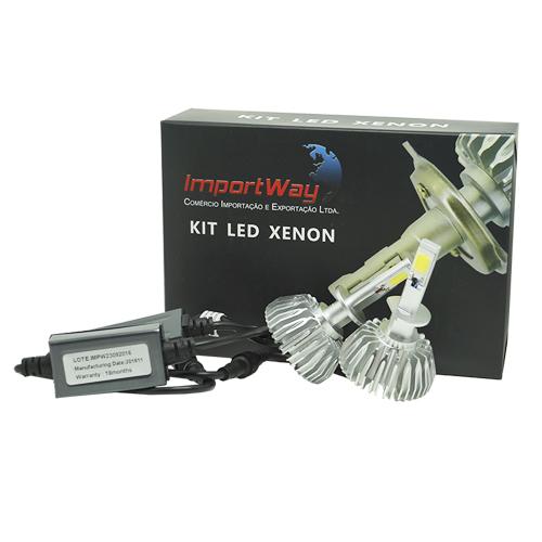 Par Lâmpada Super Led 6000 Lumens 12V 24V 40W Importway H1 6000K  - BEST SALE SHOP