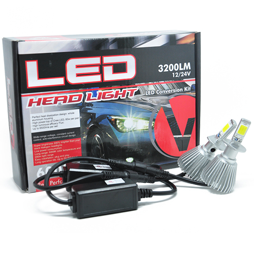 Par Lâmpada Super Led 6400 Lumens 12V 24V 32W Velox Parts H1 6000K  - BEST SALE SHOP
