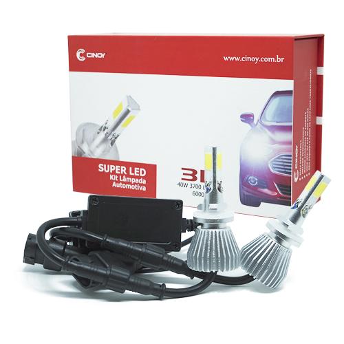 Par Lâmpada Super Led 7400 Lumens 12V 24V 40W Cinoy 3D H27 6000K  - BEST SALE SHOP