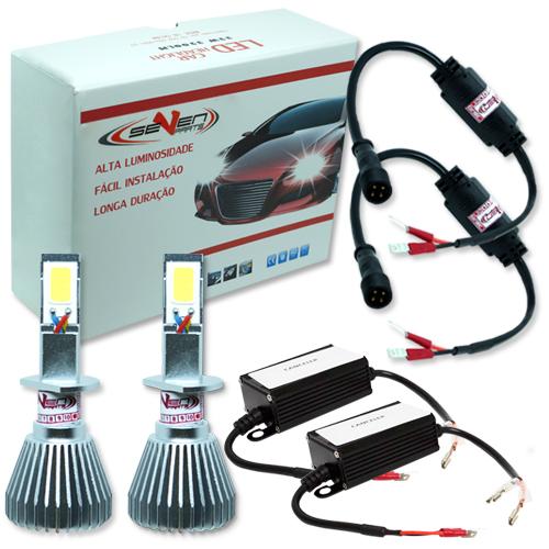 Par Lâmpada Super Led com Canceller 6400 Lumens 12V 24V 32W Seven Parts H1 6000K  - BEST SALE SHOP