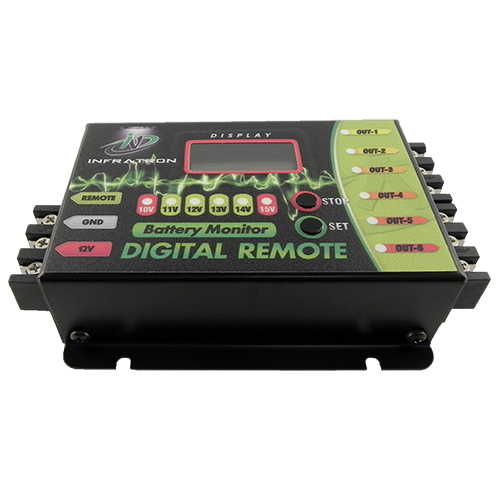 Sequenciador de Comando Remoto e Voltímetro Digital Infratron Remote 6 Saídas  - BEST SALE SHOP