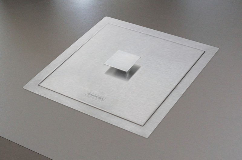 Lixeira de sobrepor  5LT Quadrum Tramontina Design Collection