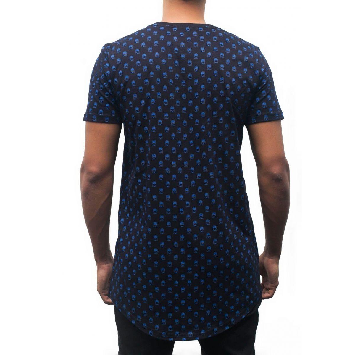 Camiseta Pattern Jesuscopy Masculina - #REINODEPONTACABEÇA  - Jesuscopy