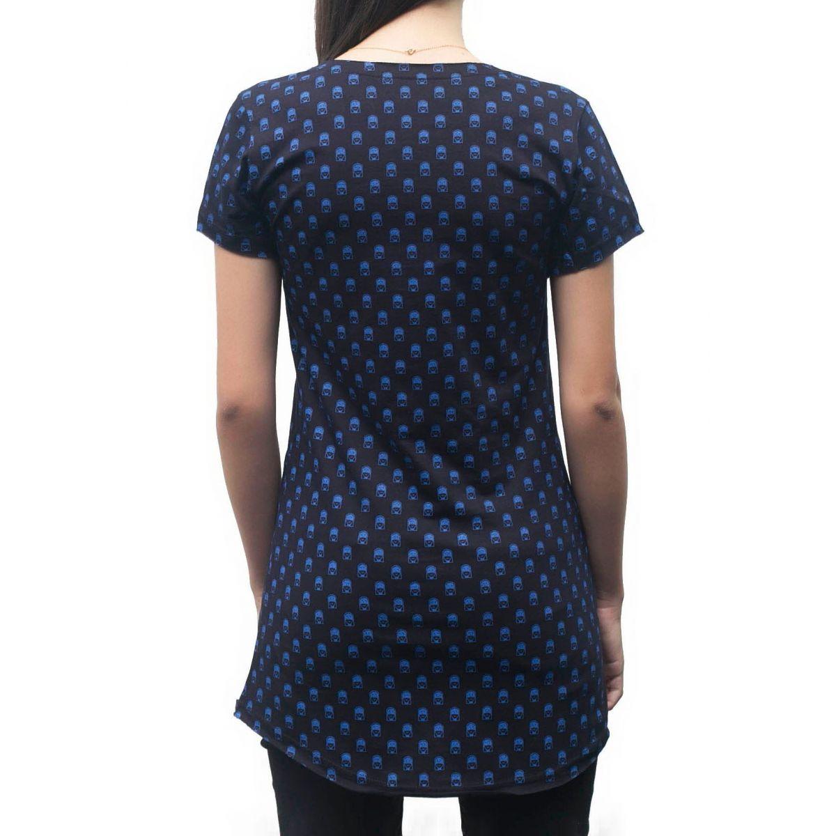 Camiseta Pattern Jesuscopy Feminina - #REINODEPONTACABEÇA  - Jesuscopy