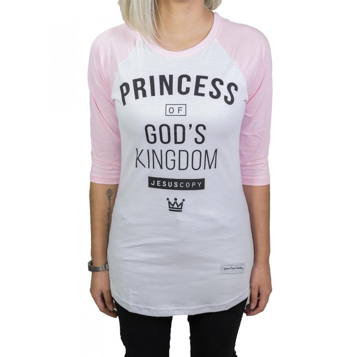 Camiseta Princess -Feminina  #REINODEPONTACABEÇA  - Jesuscopy