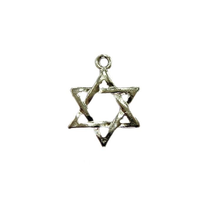 Pingente Estrela de Davi níquel grande - PTN089