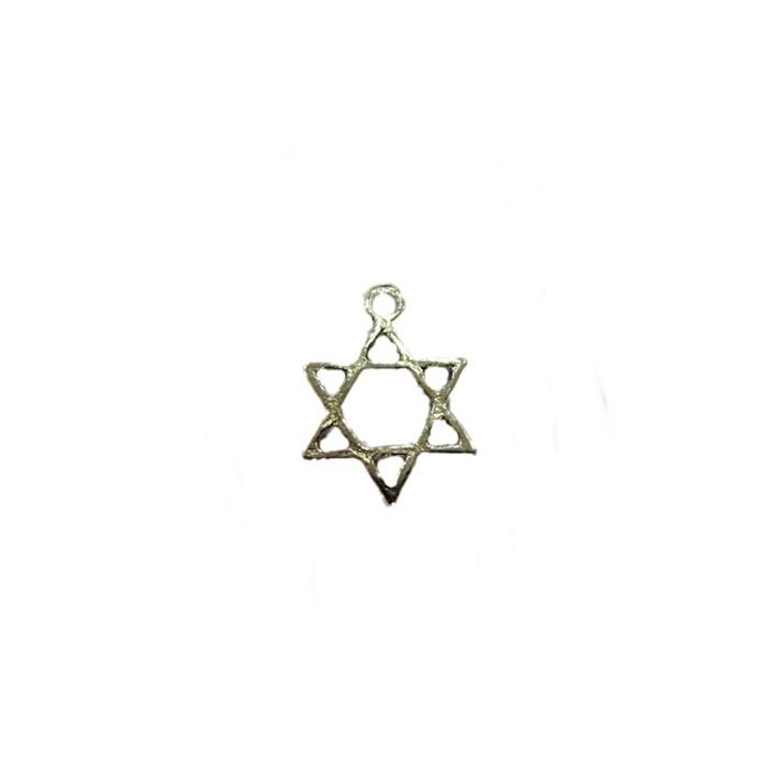 Pingente Estrela de Davi pequena níquel (10 unidades)- PTN090