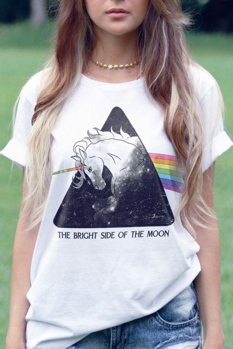 T-shirt Bright Side - Branca
