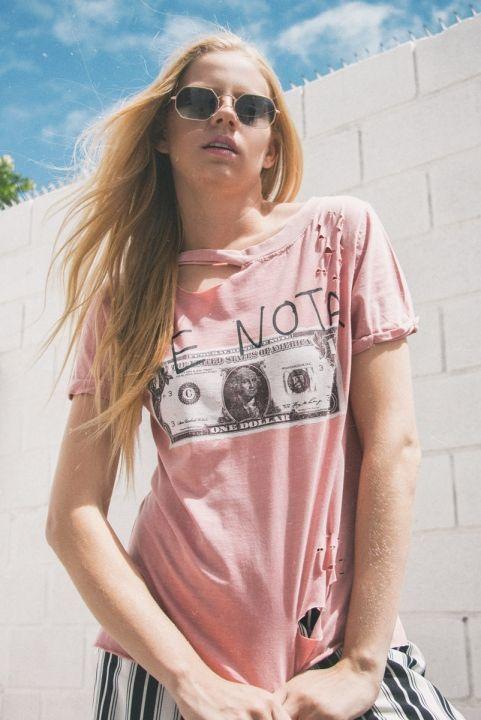 T-shirt Destroyed Rose Me Nota