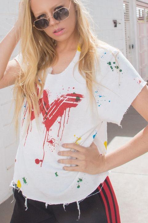 T-shirt Wonder Woman Respingos Color