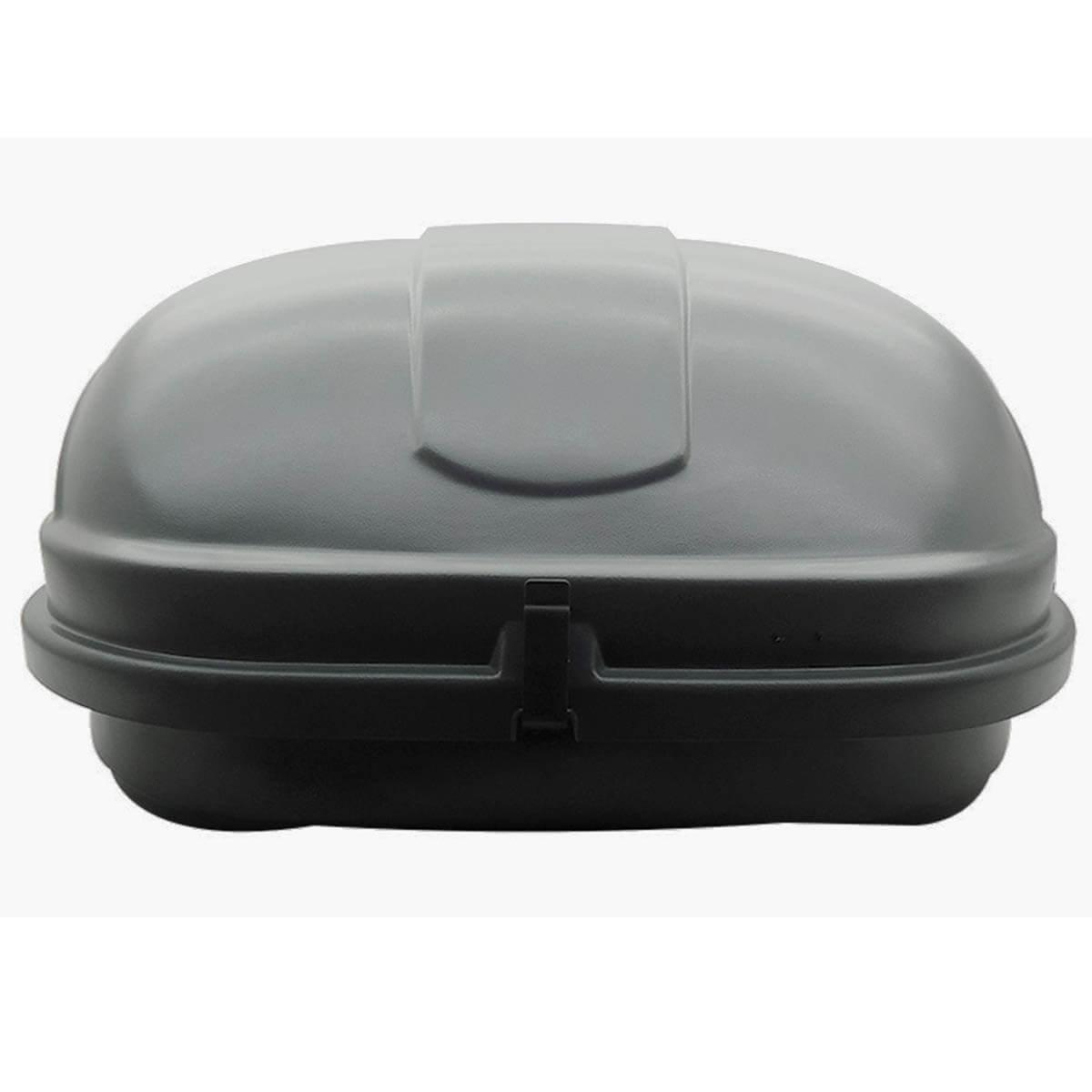 Bagageiro de teto maleiro com chave 600 litros cinza