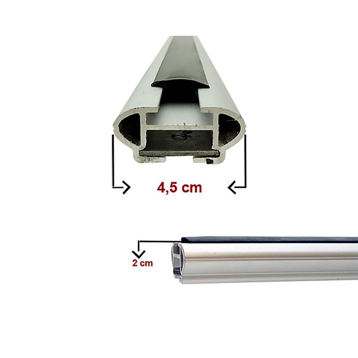 Travessa rack de teto larga alumínio Kia Soul 2009 a 2014