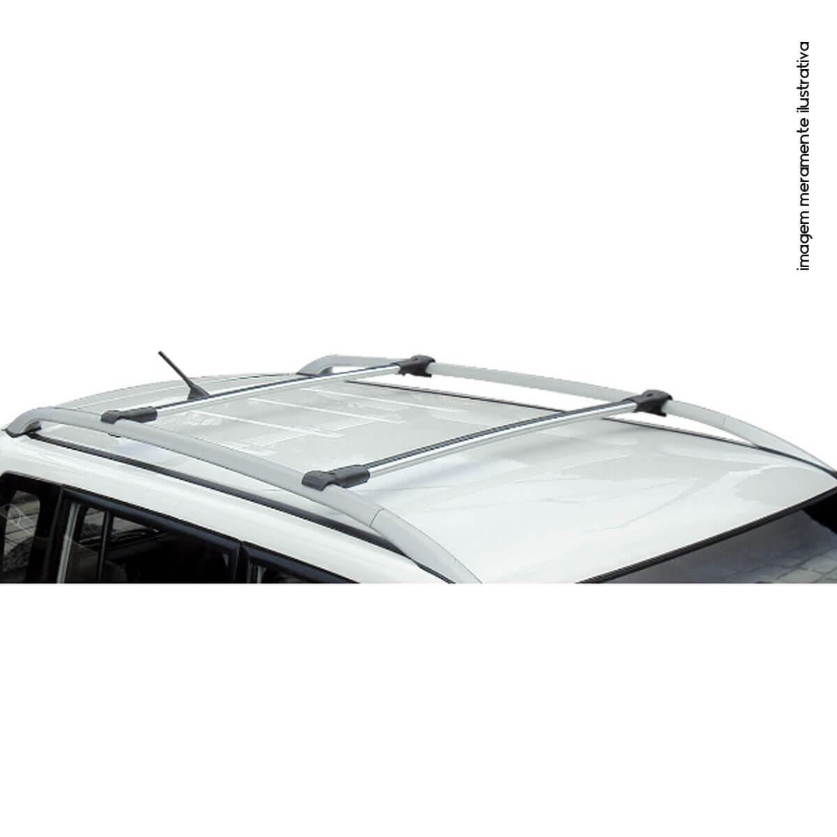 Travessa rack de teto larga alumínio S10 cabine dupla 2009 a 2011