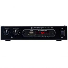 Amplificador Som Ambiente 40W até 4 Caixas c/ USB / Bluetooth - Compact 400 Hayonic