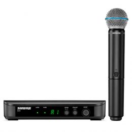 Microfone s/ Fio de Mão BLX 24 / BETA 58 A - Shure