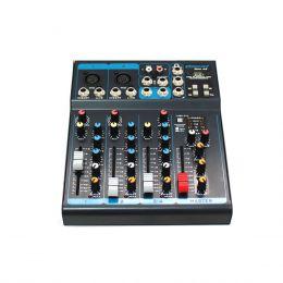Mesa de Som 4 Canais Balanceados (2 XLR + 2 P10) c/ USB / Efeito / 1 Auxiliar - OMX 42 Oneal