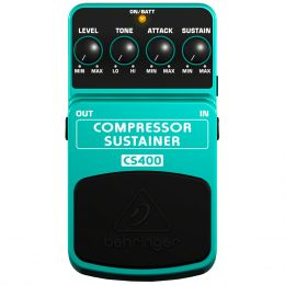 Pedal p/ Guitarra Behringer CS400 Compressor Sustainer