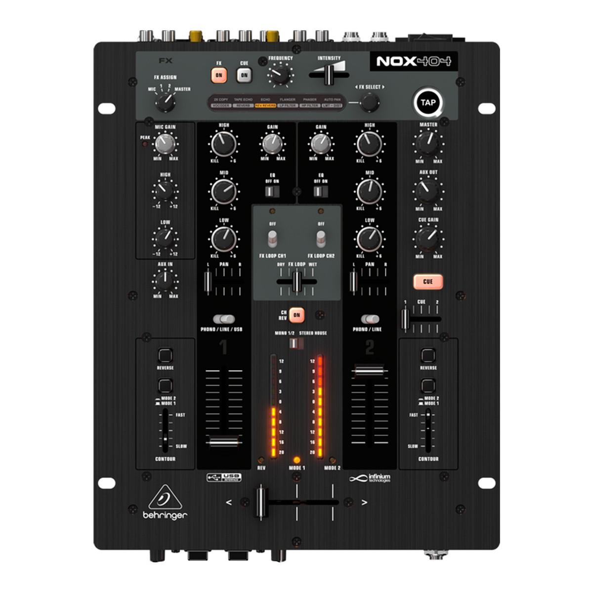 Mixer Dj 2 Canais Pro Mixer NOX 404 - Behringer