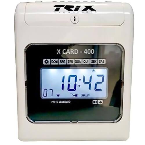 Relógio de Ponto Cartográfico X Card-400 - Trix Tecnologia  - ZIP Automação