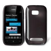 Capa TPU Premium + Película protetora para Nokia Lumia 710 - Cor Grafite