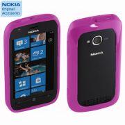 Capa silicone bumper Nokia CC-1046 para Nokia Lumia 710 - Cor Rosa