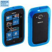 Capa silicone bumper Nokia CC-1046 para Nokia Lumia 710 - Cor azul