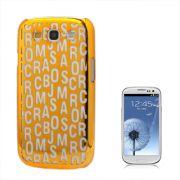 Capa Personalizada Série Alfabeto para Samsung Galaxy S3 S III i9300 - Laranja