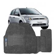 Tapete Automotivo Carpete Ford Fiesta 2004 a 2012 em diante 4 Peças Grafite