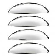 Aplique Cromado para Maçaneta Externa da Porta – Corsa 2002, Meriva 2003, Montana 2004 – 4 portas