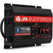 Fonte Automotiva JFA 10A Slim 140W Bivolt com Display Voltímetro e Amperímetro