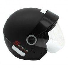 Capacete Moto Shield Solid Aberto Ebf Preto Fosco