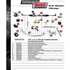 Kit De Direção Hidráulica Do Volkswagen Fox 1.0/1.6 De 2009 Em Diante (Modelos Sem Ar Condicionado)