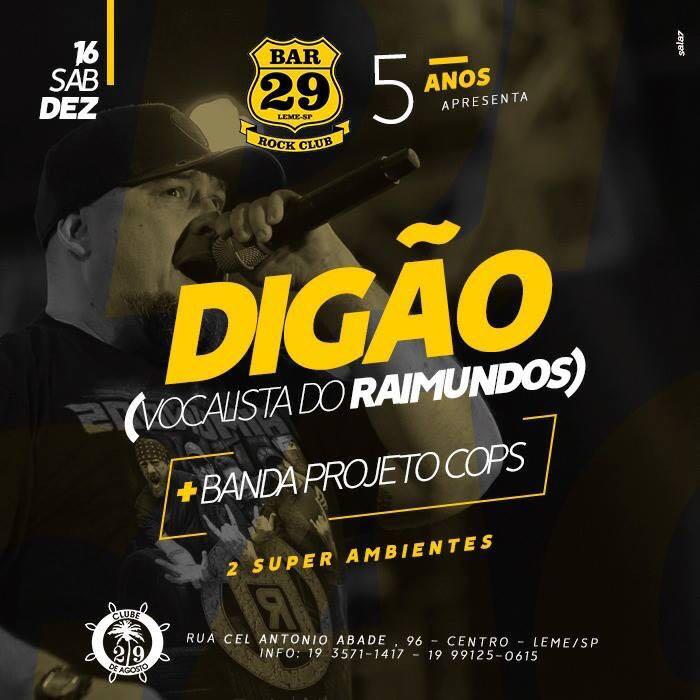Digão - Raimundos - 16/12/17 - Leme - SP
